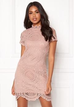 Girl In Mind Lace Dress Mauve Bubbleroom.no