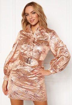LARS WALLIN Workwear Dress Pink Metallic Bubbleroom.no