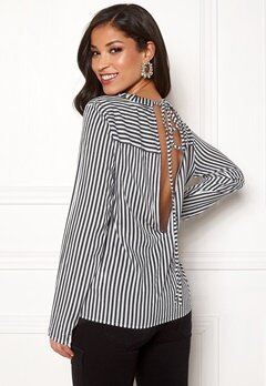 Rut & Circle Layla Back Knot Shirt Black/White Bubbleroom.no