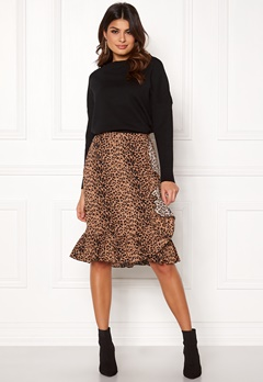 VERO MODA Leo N/W Wrap Skirt Snow White / Leopard Bubbleroom.no