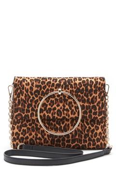 New Look Leopard Matilda Metal Bag Brown Pattern Bubbleroom.no