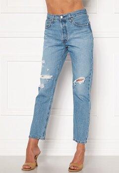 LEVI'S 501 Crop Jeans 0141 Sansome Light Bubbleroom.no
