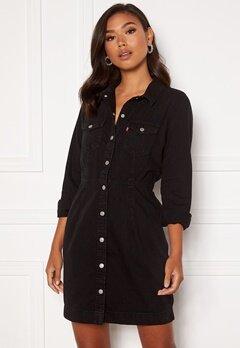 LEVI'S Ellie Denim Dress 0000 Black Book Bubbleroom.no