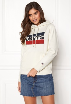LEVI'S Graphic Sport Hoodie Grey Bubbleroom.no