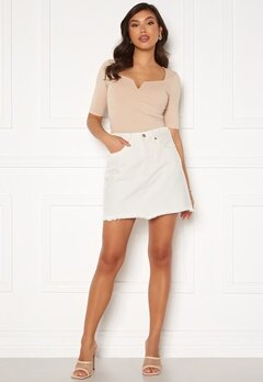 LEVI'S Hr Decon Iconic Bf Skirt 0010 Pearly White Bubbleroom.no