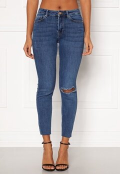 Pieces Lili Slim MW Jeans Medium Blue Denim Bubbleroom.no