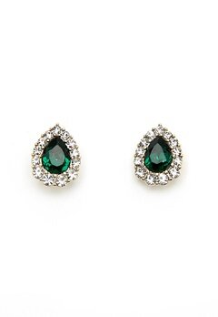 LILY AND ROSE Amelie Earrings Emerald Bubbleroom.no