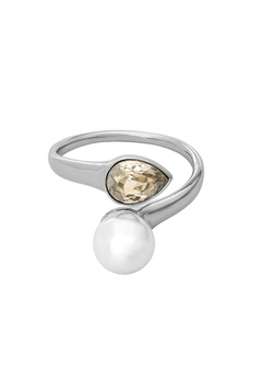 LILY AND ROSE Ella Pearl Ring Ivory Silver Bubbleroom.no