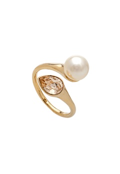 LILY AND ROSE Ella Pearl Ring Ivory Bubbleroom.no