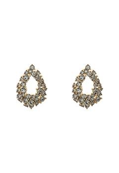LILY AND ROSE Petite Alice Earrings Black Diamond Bubbleroom.no