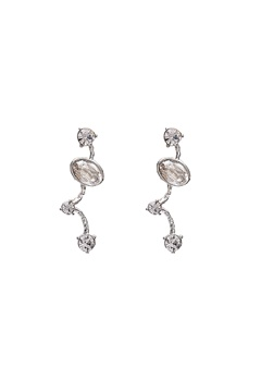 LILY AND ROSE Petite Siri Earrings Crystal/Silver Bubbleroom.no