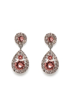 LILY AND ROSE Petite Sofia Earring Rose Peach/Silver Bubbleroom.no