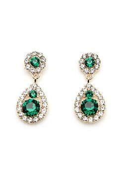 LILY AND ROSE Petite Sofia Earrings Emerald Bubbleroom.no
