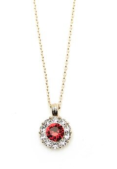 LILY AND ROSE Sofia Necklace Scarlett Red Bubbleroom.no