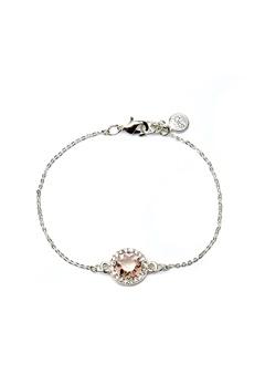 SNÖ of Sweden Lissy Chain Bracelet Silver/Vintage Rose Bubbleroom.no