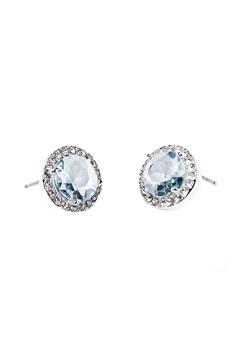 SNÖ of Sweden Lissy Stone Earrings Silver/Light Aqua Bubbleroom.no