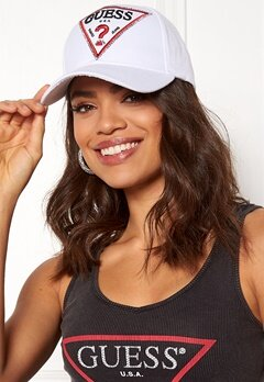 Guess Logo Baseball Cap True White Bubbleroom.no