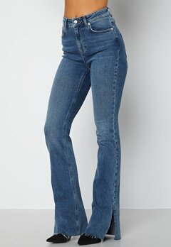 Lojsan Wallin x BUBBLEROOM Slit jeans Medium blue bubbleroom.no