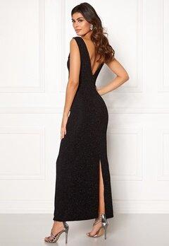 DRY LAKE Loreen Lurex Dress 008 Black Glitter Bubbleroom.no