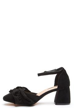 LOST INK Annie Ruffle F-Block Heel Black Bubbleroom.no