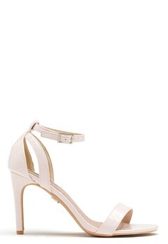 LOST INK Betsy Stiletto Sandal Nude Bubbleroom.no