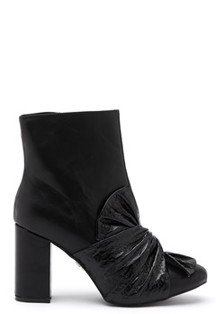LOST INK Daisy Bow Ankle Boot Black Bubbleroom.no