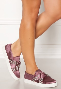 LOST INK Kara Jewel Bow Slip On Pink Bubbleroom.no