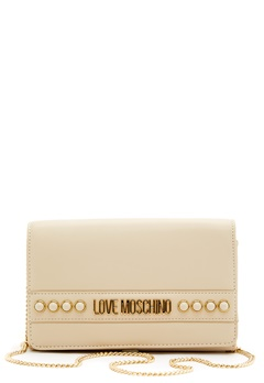 Love Moschino Evening Bag 110 Ivory Bubbleroom.no