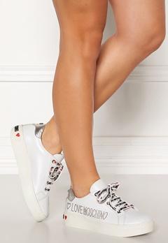 Love Moschino Moschino Leather Sneakers White Bubbleroom.no