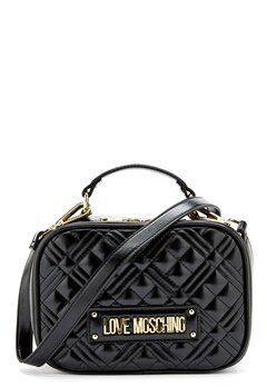 Love Moschino New Shiny Quilted Bag 000 Black Bubbleroom.no