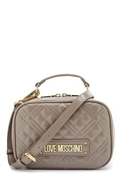 Love Moschino New Shiny Quilted Bag 001 Grey Bubbleroom.no