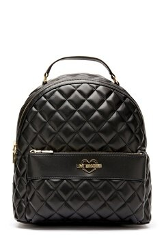 Love Moschino Quilted Backpack Black/Gold Bubbleroom.no