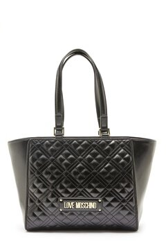 Love Moschino Quilted Bag Black Bubbleroom.no