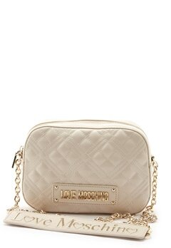 Love Moschino Quilted Bum Bag Ivory Bubbleroom.no
