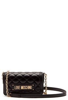Love Moschino Quilted Chain Bag Black Bubbleroom.no