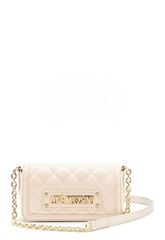 Love Moschino Quilted Chain Bag Ivory Bubbleroom.no