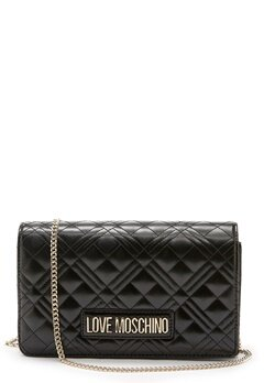 Love Moschino Quilted Evening Bag Black Bubbleroom.no