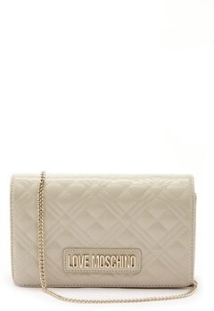 Love Moschino Quilted Evening Bag Ivory Bubbleroom.no