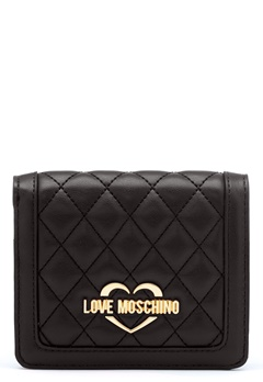 Love Moschino Quilted Wallet Black/Gold Bubbleroom.no