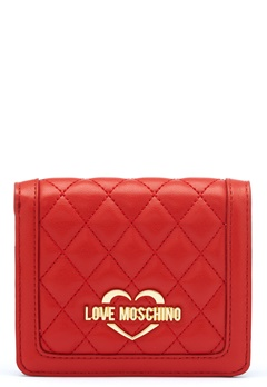 Love Moschino Quilted Wallet Red Bubbleroom.no