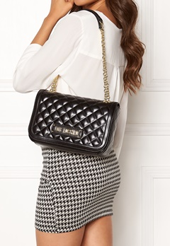 Love Moschino Shiny Quilted Bag Black Bubbleroom.no