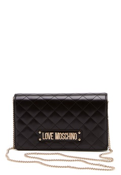 Love Moschino Small Quilted Chain Bag Black Bubbleroom.no