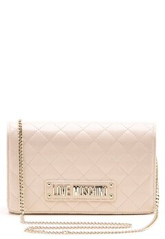 Love Moschino Small Quilted Chain Bag Ivory Bubbleroom.no