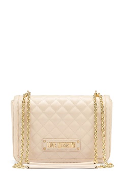 Love Moschino Small Quilted Handbag Ivory Bubbleroom.no