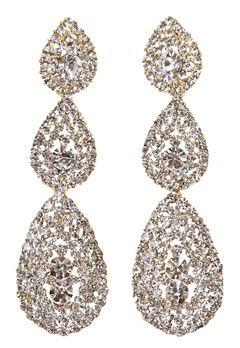 Love Rocks Byzanine Pave Earring Gold Bubbleroom.no