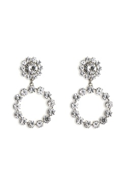 Love Rocks Crystal Ring Drop Earring Silver Bubbleroom.no