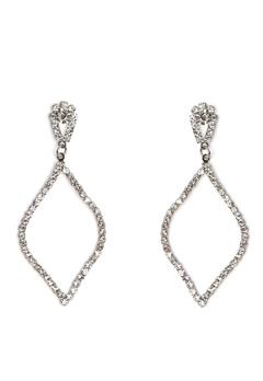 Love Rocks Persian Shape Earring Silver Bubbleroom.no