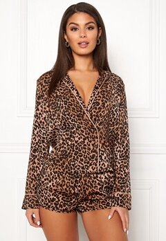 Love Stories Vigo Pyjama Shirt Brown Bubbleroom.no