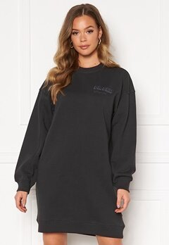 Dr. Denim Lowe Sweatshirt Dress B87 Graphite NV Shad Bubbleroom.no