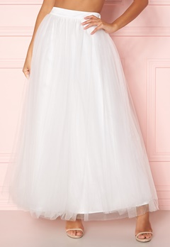 Y.A.S Lucy Maxi Skirt Star White Bubbleroom.no